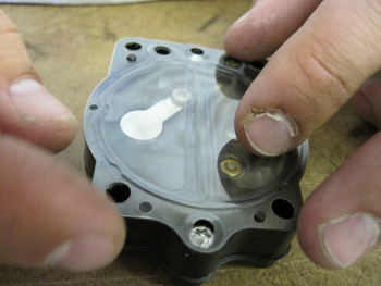 carburetor metering cover